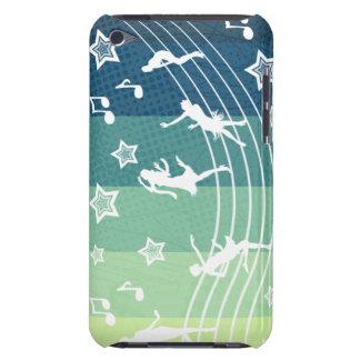 Tacto del rollo de la roca N iPod Touch Case-Mate Protector