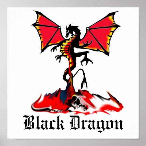 tacto negro del dragón póster