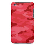 Tacto rojo de iPod de la casamata de Camo iPod Touch Case-Mate Protector