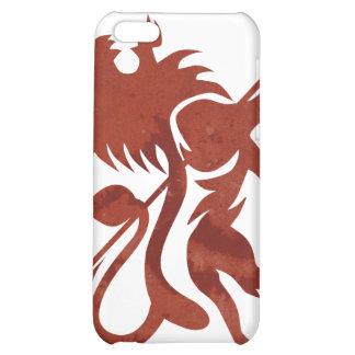 Tacto rojo de iPod del león de Ras por Skidone