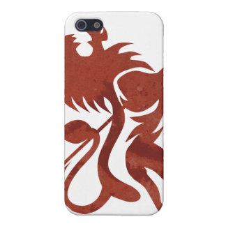 Tacto rojo de iPod del león de Ras por Skidone iPhone 5 Carcasas