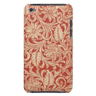 Tacto rojo floral de iPod de la casamata del iPod Touch Funda