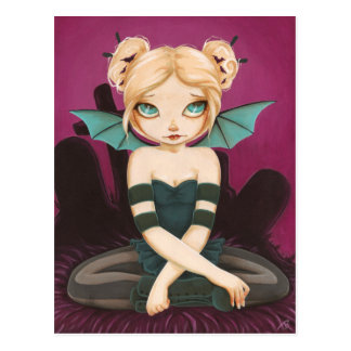 Tad Batty - bat fairy postcard