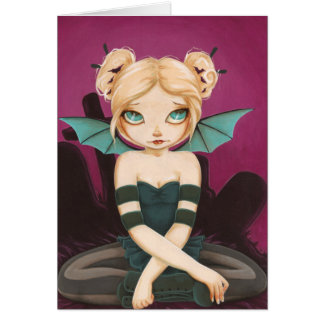Tad Batty -Color Me inside- bat fairy goth card