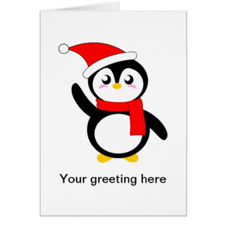 Tad the Snuggly Penguin Card