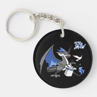 """""""Tada!"""" A Dragon Magician Double-Sided Round Acrylic Keychain"""