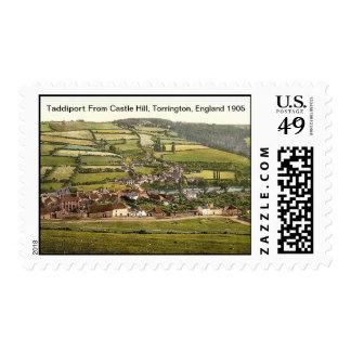 Taddiport From Castle Hill, Torrington, England Postage