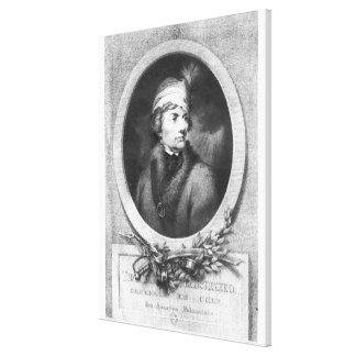 Tadeusz Kosciuszko , engraved by Christiaan Canvas Print