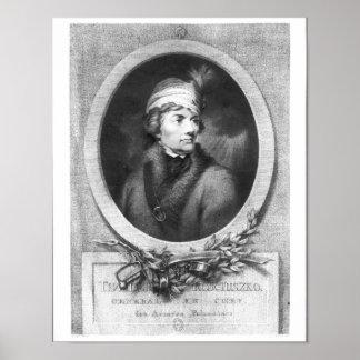 Tadeusz Kosciuszko , engraved by Christiaan Poster