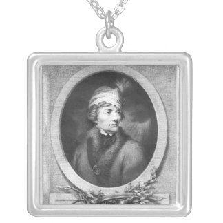 Tadeusz Kosciuszko , engraved by Christiaan Silver Plated Necklace