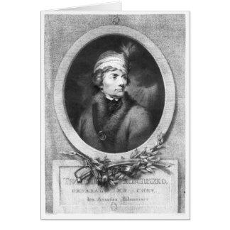 Tadeusz Kosciuszko, grabado por Christiaan Tarjeta De Felicitación