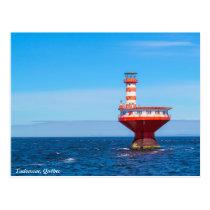 Tadoussac offshore lighthouse, Québec postcard
