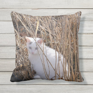Tadpole in the Reeds Outdoor Pillow
