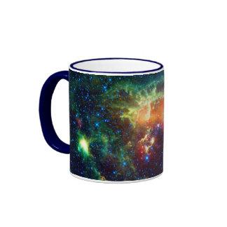 Tadpole Nebula, Auriga Constellation Ringer Coffee Mug