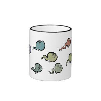 tadpoles enojados taza a dos colores