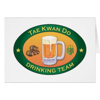 Tae Kwan Do Drinking Team Card