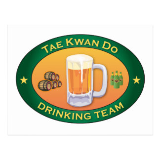 Tae Kwan Do Drinking Team Postcard