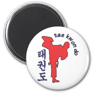 tae kwon do 2 inch round magnet