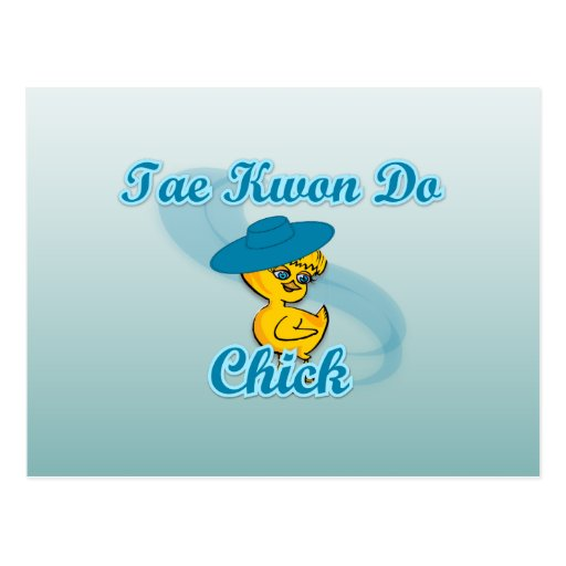 Tae Kwon Do Chick #3 Post Card