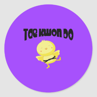 Tae Kwon Do chick Classic Round Sticker