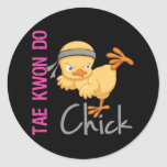 Tae Kwon Do Chick Classic Round Sticker