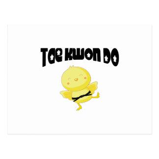 Tae Kwon Do chick Postcard