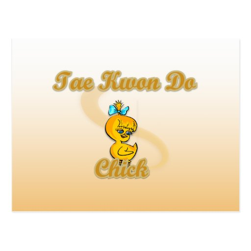 Tae Kwon Do Chick Post Card