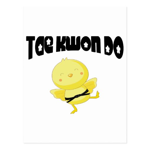 Tae Kwon Do chick Post Cards