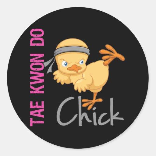 Tae Kwon Do Chick Sticker