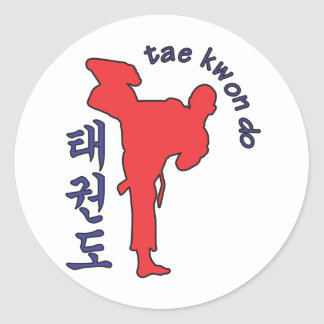 tae kwon do classic round sticker