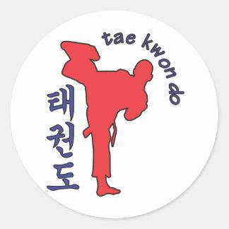 tae kwon do classic round sticker