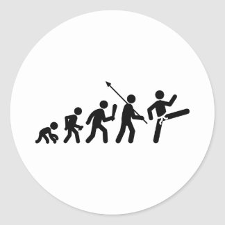 Tae kwon-do classic round sticker