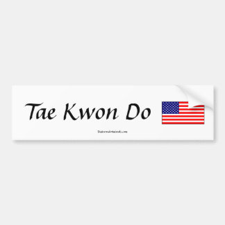 Tae Kwon Do Flag Sticker