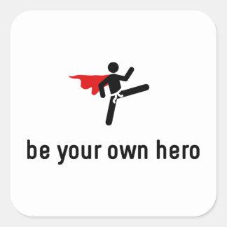 Tae kwon-do Hero Square Sticker