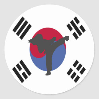 Tae Kwon Do Kicker female Stickers