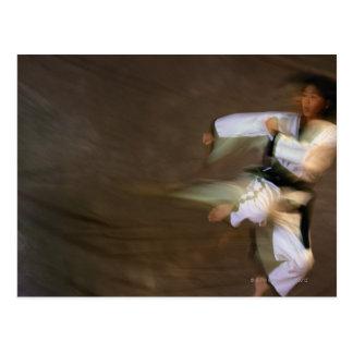 Tae Kwon Do Leap Kick Postcard
