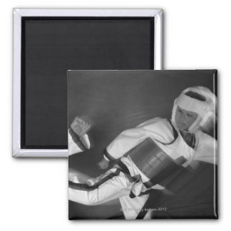 Tae Kwon Do Match 2 Inch Square Magnet