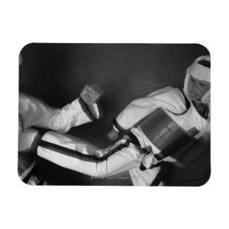 Tae Kwon Do Match Rectangular Photo Magnet