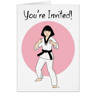 Tae Kwon Do Princess Party Invitations Stationery Note Card