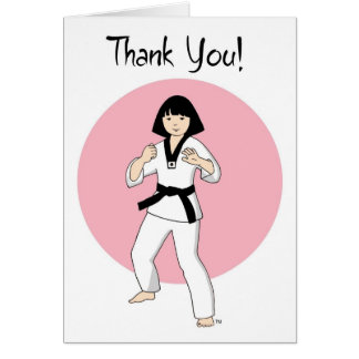 Tae Kwon Do Princess Thank You Cards