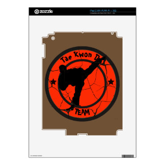 Tae Kwon Do	Silhouette of Tae Kwon Do fighter. Decals For The iPad 2