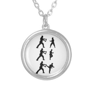 Tae Kwon-Do Silver Plated Necklace