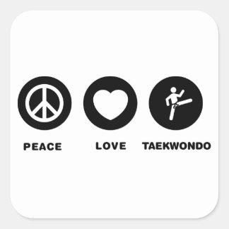 Tae kwon-do square sticker
