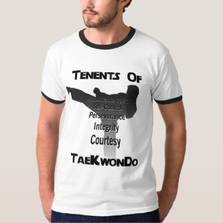 Tae Kwon Do Traditional Tenets T-shirts