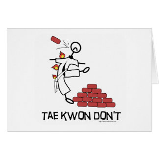 Tae Kwon Dont Greeting Card