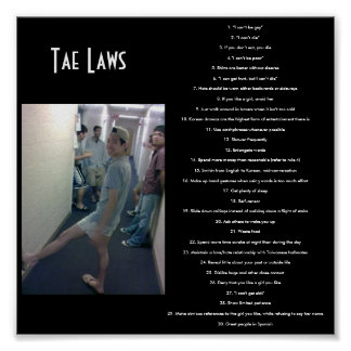 Tae Laws Poster