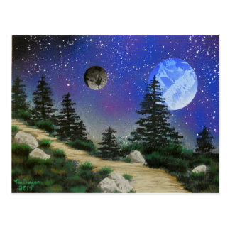 TaeDragonArt Forest Spacescape Post Card