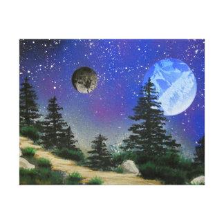 TaeDragonArt Forst Spacescape Canvas Print