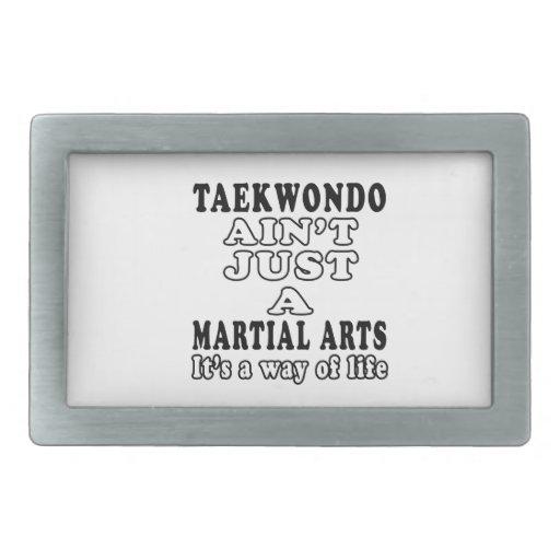 Taekwondo Ain't Just A Martial Arts Belt Buckle