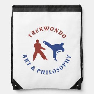 Taekwondo Art & Philosophy Drawstring Backpack